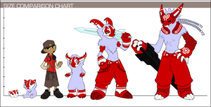 Size Comparison Chart by Meeshi