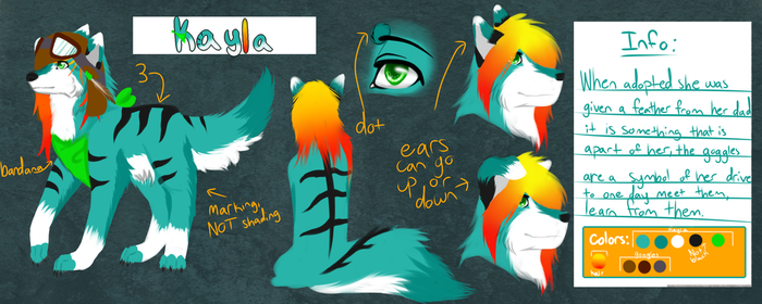 Kayla's ref sheet 2015  by TeenyTaffie