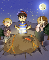 Three boys and a girl. by Wasil