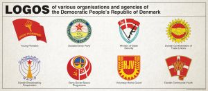 Communist Denmark - Logos of various organizations by Regicollis