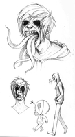 Eyeless Jack Doodles by SUCHanARTIST13