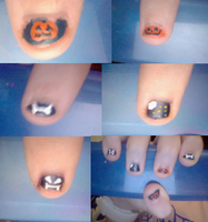 halloween nails by rachelpyf2