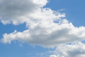 Cloudy Blue Sky 1 by LydiaTremont