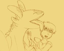 Dragon Slobber - Hiccup and Toothless by ChoFrog09
