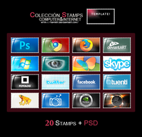 Pack Stamps Internet by TamyRT