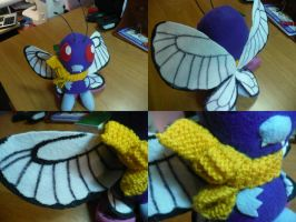 Butterfree Plushie by PlushRayseTiger