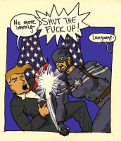 Cap punching Trump in the face by ihni
