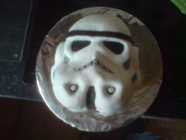Storm trooper cake by bloodypinata
