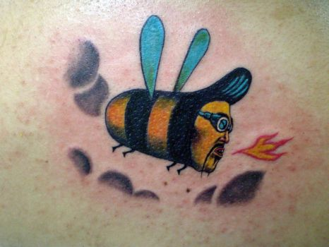 rocker bee by stigmatattoo