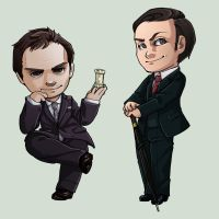 Moriarty and Mycroft by oneoftwo