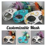 Customizable Leater Mask with personalized name by maskedzone