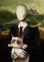 Grumpy Mona Slender by daeris-art
