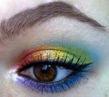 rainbow makeup look :D by KatelynnRose