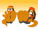Commission - Puppy Paws by InkiCrow