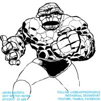 Arvin Bautista Sketches 2017 40/100: The Thing by greasypigstudios