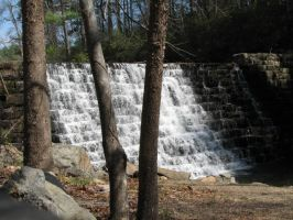 waterfall at Otter Lake by theothertattooguy
