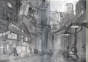 Concept city sketch by alexmartinez