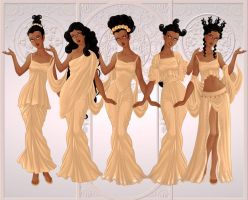 We are the Muses, Goddesses of the Arts by kid-at-heart-dolls