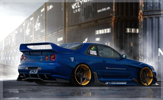 Nissan Skyline r34 LB by aNqUi