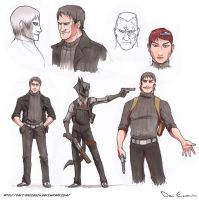 Sketch Dump - Character Design Black Hand 2 by davi-escorsin