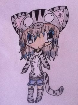 Cute Chibi Cat Girl by Porsche911GT32013