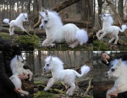 Ooak poseable art doll unicorn by FellKunst