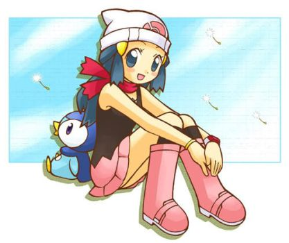 Dawn and Piplup by Endless-Summer192