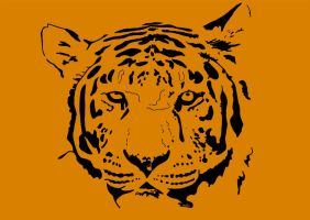 Tiger Face Stencil by resresres