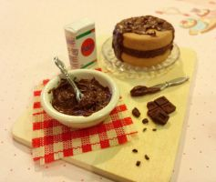 Chocolate Cake Prep Board 3 SOLD by ninja2of8