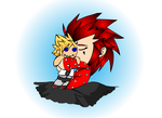 Axel Stole my PJs by LadyOCloud7