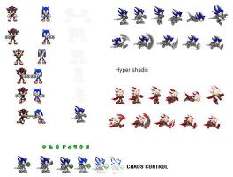 Shadic sprites by MysteryTheHedgehog2
