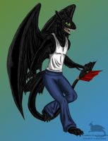 Anthro Toothless by Ravenfire5