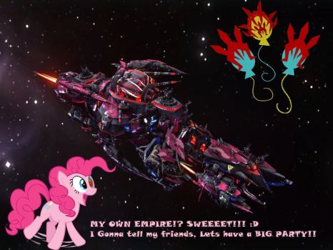Pinkie's Party Ship by FireLordzx