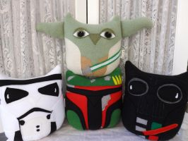 Star Wars Inspired Owl Plushies by sylvialovespink