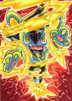 Luxio's Wild Charge by Porcubird