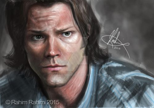 Sam Winchester Digital Portrait by Rahimi001
