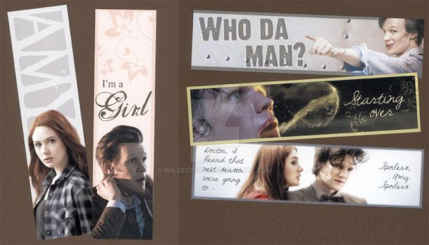 Eleventh Doctor Bookmarks by WildeMoon