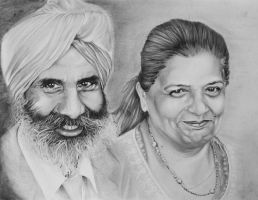 Sikh Couple No.1 by aRtUSSELL