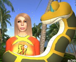 Electra Woman Meets Kaa by The-Mind-Controller