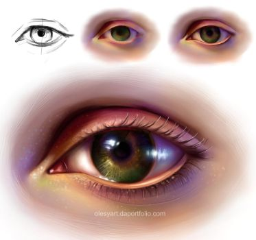 Eye. Just for practice by lespaint