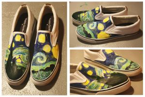 Starry Night Shoes by german-popsicle