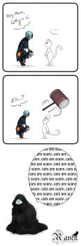 Cats are scary by Sloartist-Raven