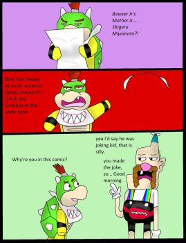 Bowser jr reacts to his mother reveal by kingofthedededes73