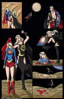 Supergirl vs Nuclear Girl 2 -commission by mhunt