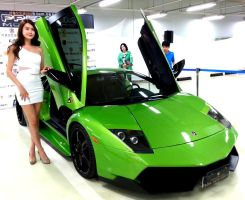 Lady with a Murcielago by toyonda