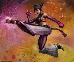 Juri Han Kicked Again by SirTiefling