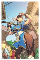 Chun-li chillin' in Edwin's village by Ross-A-Campbell