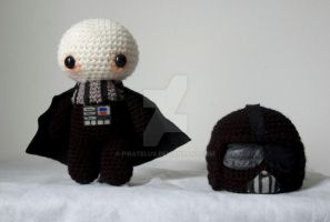Darth Vader amigurumi doll by pirateluv