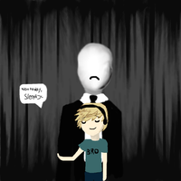 Pewdie and Slendy by altairaxramen