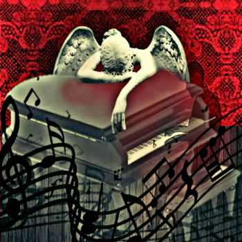 Sad Ghost Piano Man Befriends The Angel Of Grief by kingcole5150